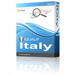 IQUALIF Italia amarillo, profesionales, negocios
